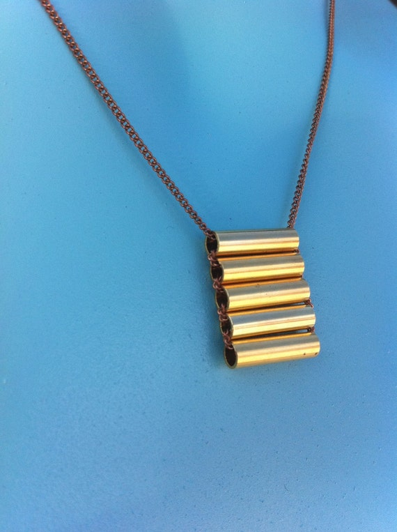 gold tubes tiered necklace