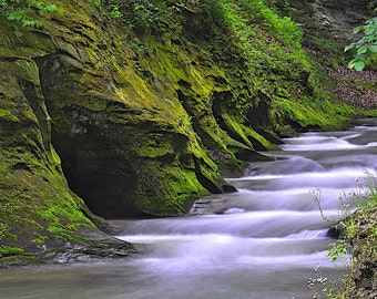 Fine Art Photo of Fall Creek Gorge Nature Preserve, Indiana (IDSPD229)