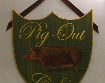 Cafe/Pub Sign -  personalize  with family or store  name