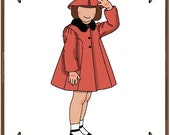 PDF - Betsy McCall Doll Clothes Pattern - Coat, Hat - No. PDF-31