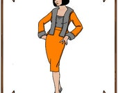 Coquette Doll Clothes Pattern - Jacket, Skirt - No. 68CQ