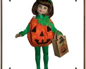 PDF - Betsy McCall Doll Clothes Pattern - Halloween Costume, Candy Bag - No. PDF-165