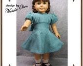 American Girl Doll Clothes Pattern - Fitted Party Dress - No. 174