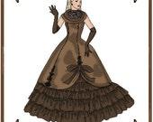 PDF - Ellowyne Wilde Doll Clothes Pattern - Evening Gown, Underskirt, Gloves - No. PDF-116