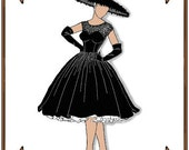 Gene Marshall Doll Clothes Pattern - Cocktail Dress, Hat, Gloves - No. 19