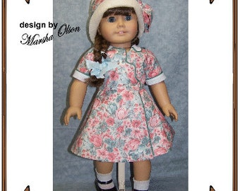 American Girl Doll Clothes Pattern - Dress, Cloche Hat - No. 173