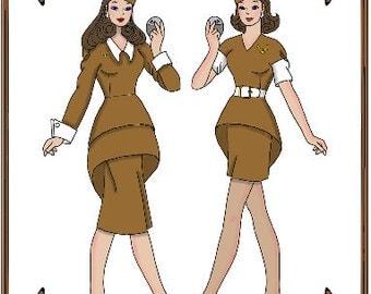 Silkstone Barbie Doll Clothes Pattern - Stewardess Uniform - No. 126