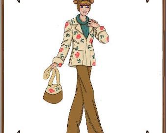 PDF - Silkstone Barbie Doll Clothes Pattern - Sweater/T-Shirt, Slacks, Handbag - No. PDF-123SB