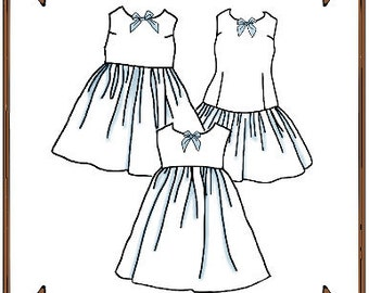 "PDF - 18"" Ann Estelle Doll Clothes Pattern - Slips or Sleeveless Dresses - No. PDF-82AE18"