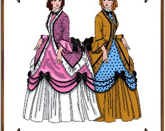 Tyler Wentworth Doll Clothes Pattern - Victorian Walking Gown - No. 102TW