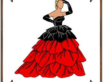 Modern Cissy Doll Clothes Pattern - Petal Dress, Gloves - No. 18C