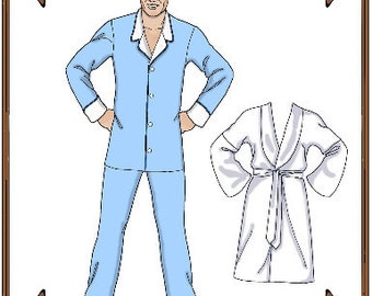Matt O'Neill Doll Clothes Pattern - Men's Pajamas - No. 119MO