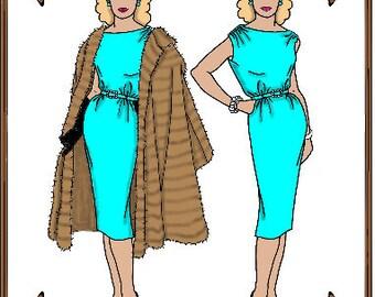 Cissette Doll Clothes Pattern - Dress, Coat, Gloves - No. 44CS