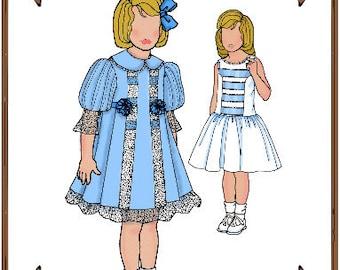 PDF - Betsy McCall Doll Clothes Pattern - Party Dress, Slip - No. PDF-133