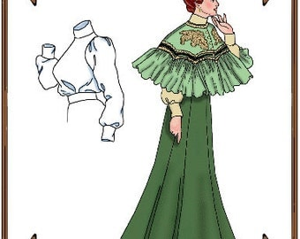 Tyler Wentworth Doll Clothes Pattern - Blouse, Skirt, Cape - No. 103
