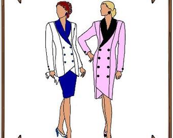 "PDF - 19"" American Model Doll Clothes Pattern - Jacket, Skirt, Coat-Dress - No. PDF-23AM"