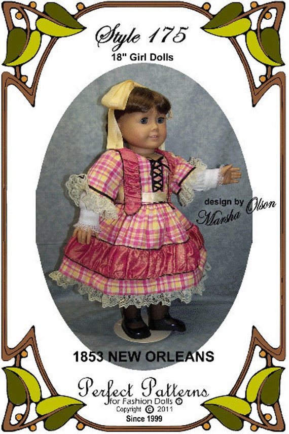 PDF - American Girl Doll Clothes Pattern - Dress, Undersleeve - No. PDF-175