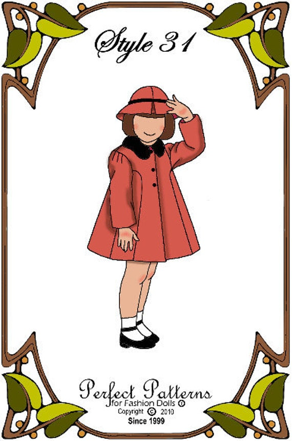 Betsy McCall Doll Clothes Pattern - Coat, Hat - No. 31
