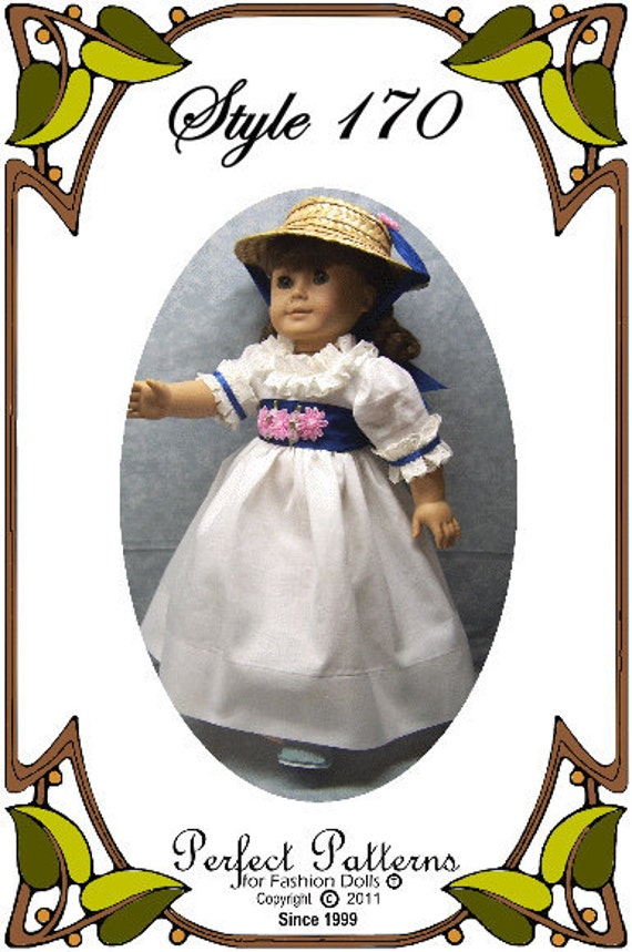 American Girl Doll Clothes Pattern - Summer Gown - No. 170
