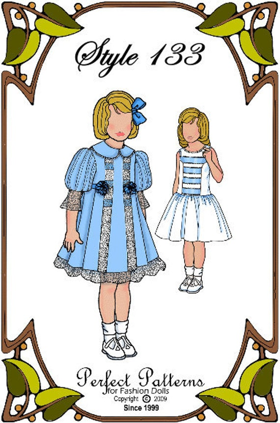 Betsy McCall Doll Clothes Pattern - Dress, Slip - No. 133