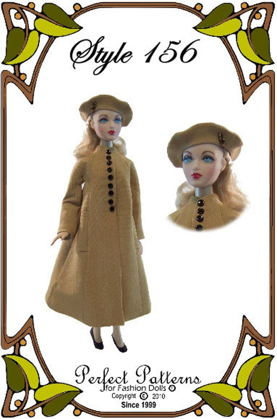 Gene Marshall Doll Clothes Pattern - Coat, Hat  - No. 156