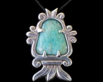 Volcano Glyph pendant