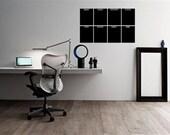 Chalkboard Calendar 36x22 Planner Organize Modern Chalk Vinyl Wall Lettering Words Wet Wipe