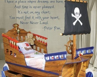 PETER PAN I have a place where dreams are born....  Never Never Land Vinyl Decal Wall Art