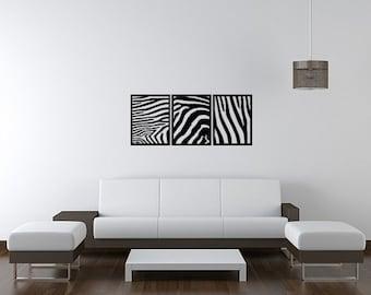 Zebra Panels (3) Graphic Art Design 48x20 Vinyl Wall Lettering Words Quotes Decals Art Custom Dandelions Garden Blowing in the Wind
