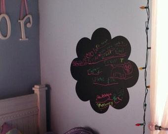 Chalkboard Flower 22x22 Modern Chalk Vinyl Wall Lettering Words Wet Wipe