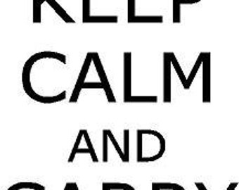 Keep Calm and Carry On 12x22 Vinyl Decal Wall Art Lettering Decals