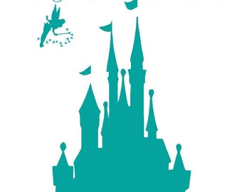 A Dream is a Wish your Heart makes Disney CASTLE Tinkerbell BIG 38x50 Modern Vinyl Decal Wall Lettering Words  Princess