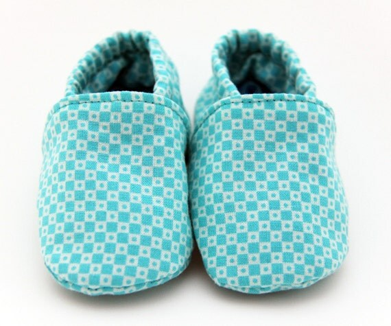 aqua check booties  size 0 to 3 months
