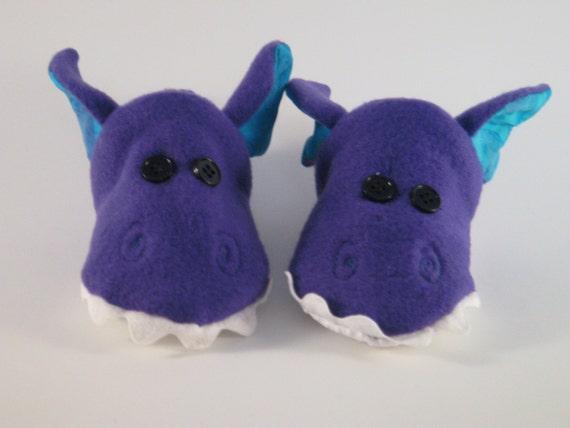 purple dragons slippers