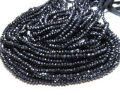 5 x14 Inches Super Diamond Sparkly Black Spinel Micro Faceted Rondell Beads size 3 mm approx Super Shiny