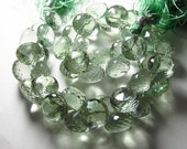13 pcs Gorgeous Green Amethyst Faceted Onion Briolett Great Quality Great Price Size 8 - 9 mm approx