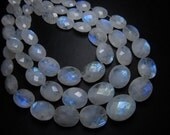 21 pcs -AA -High Quality Rainbow MOONSTONE Faceted Oval Briolett Each Pcs Have Amazing Blue Fire Huge size 8x6- 11x14 mm-