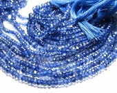 AAA high quality - 14 inches amazing deep blue - IOLITE - super super sparkle nice clear quality micro faceted rondell beads size 4 mm