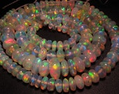 AAAAAA - Best Quality Of Ethiopian Opal Brand New 16 inches Trully Highest Quality Smooth Polished Rondell Beads Huge Size 8 - 3 mm
