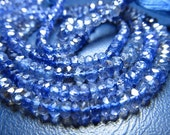 AAA high quality -14 inches amazing deep blue - IOLITE - super super sparkle nice clear quality micro faceted rondell beads size 4 mm