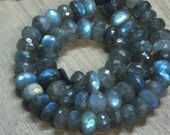 AAA - High Quality - LABRADORITE - Micro Cut Faceted Rondell Beads so Gorgeous Full Flashy Multy Fire size 6 - 7 mm approx 14 inches Long