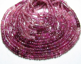 14 inches - so gorgeous AAA - high quality - pink tourmaline - micro faceted - shaded rondell beads - size 2 - 2.5 mm approx beautifull