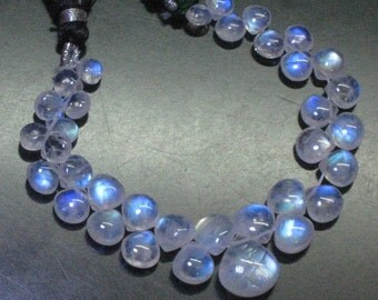 AAA -so gorgeous - huge size 12 - 5 mm - rainbow moonstone - smooth heart briolett full flashy fire 35 pcs great quality great price