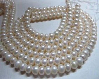 2x14 inches gorgeous fresh water pearl rondell shape size 6 mm super low price