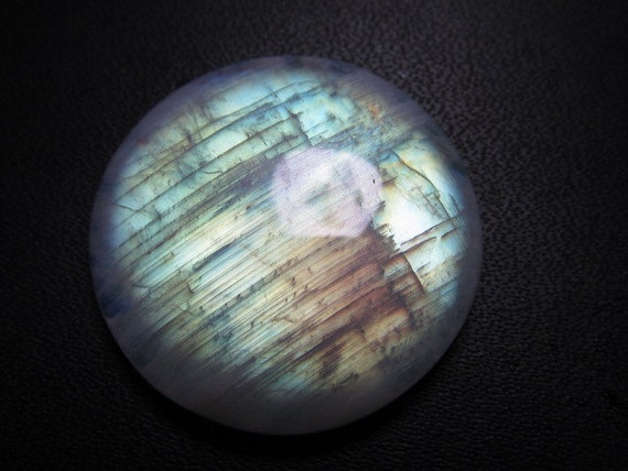 Very Beautifull Rainbow MOONSTONE - Amazing Full Blue Rainbow Flashy Fire Round Cabochon Huge size - 26x26 mm approx