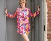 SALE Vintage 1960s TUNIC Mini Dress PUCCI Inspired  Print