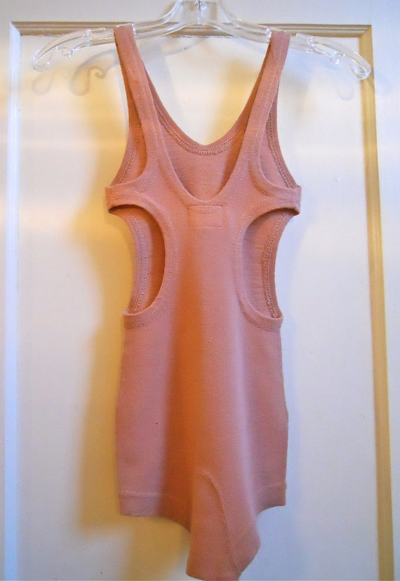 New old Stock Vintage 1920s Side Cut Wool Bathing Suit Swimsuit XS