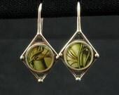 Vintage stamp earrings