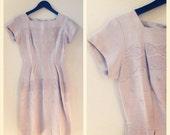 60s linen day dress