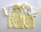for baby boy // vintage handmade collared shirt